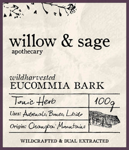 Eucommia Bark - Willow and Sage Apothecary
