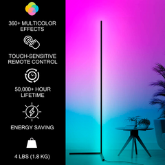 RGB LED Corner Floor Lamp