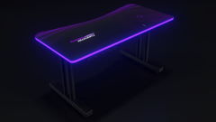 Purple Autodromo Desk With LED Lighting