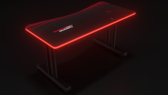 Red Autodromo Desk With LED Lighting
