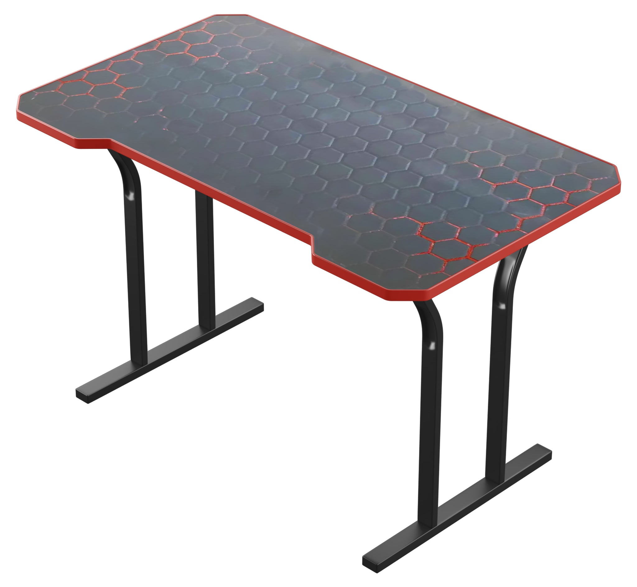 Red Decagon Gaming Desk