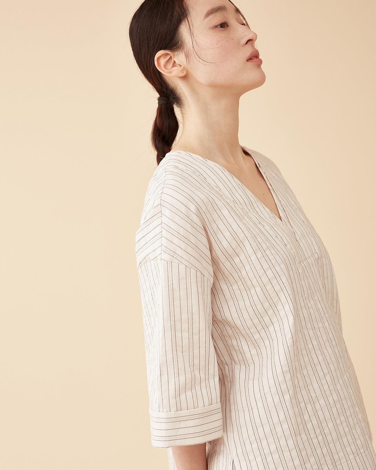 Mori Stripe Top