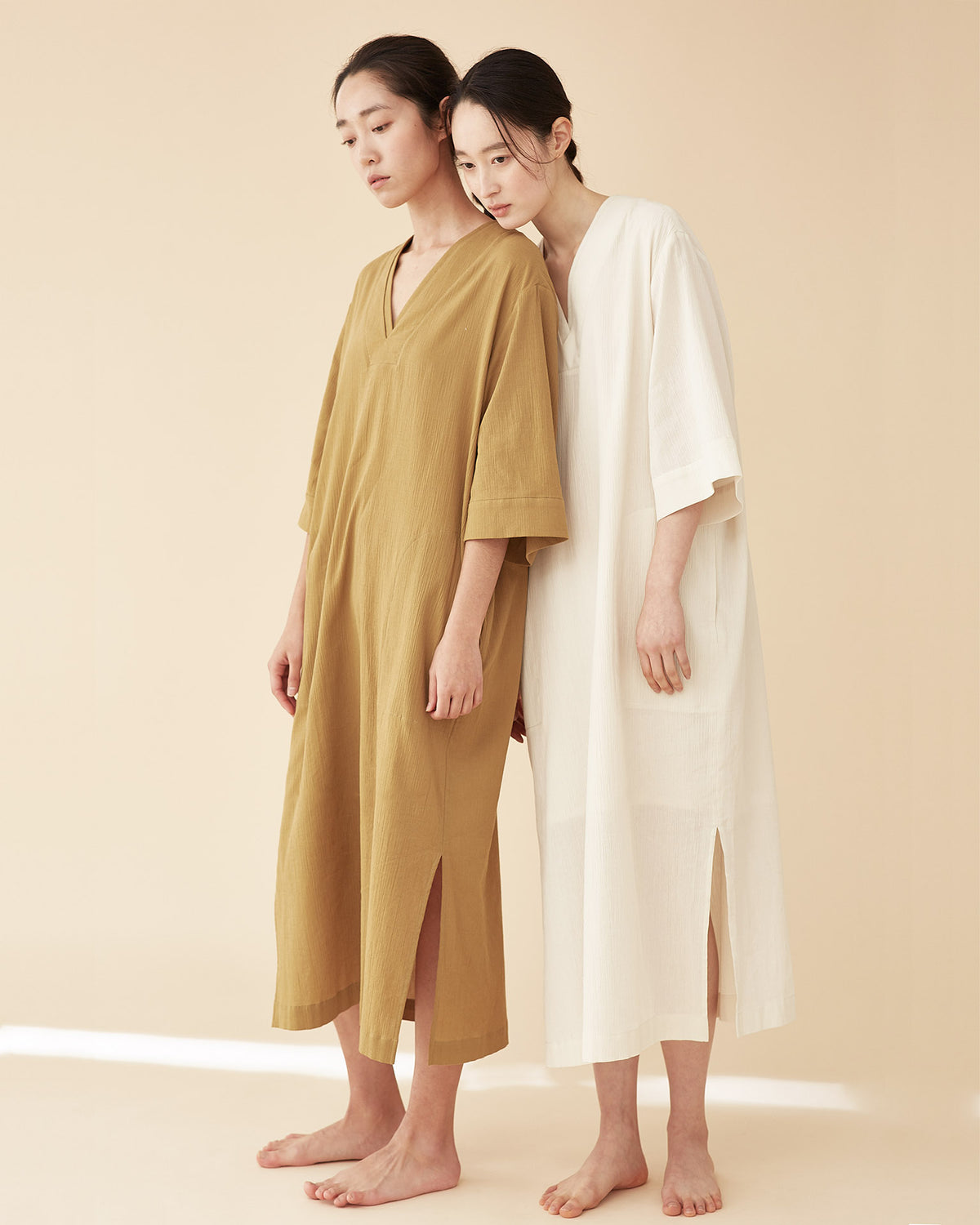 Kimono Line Sleepwear Dress / Olive Green