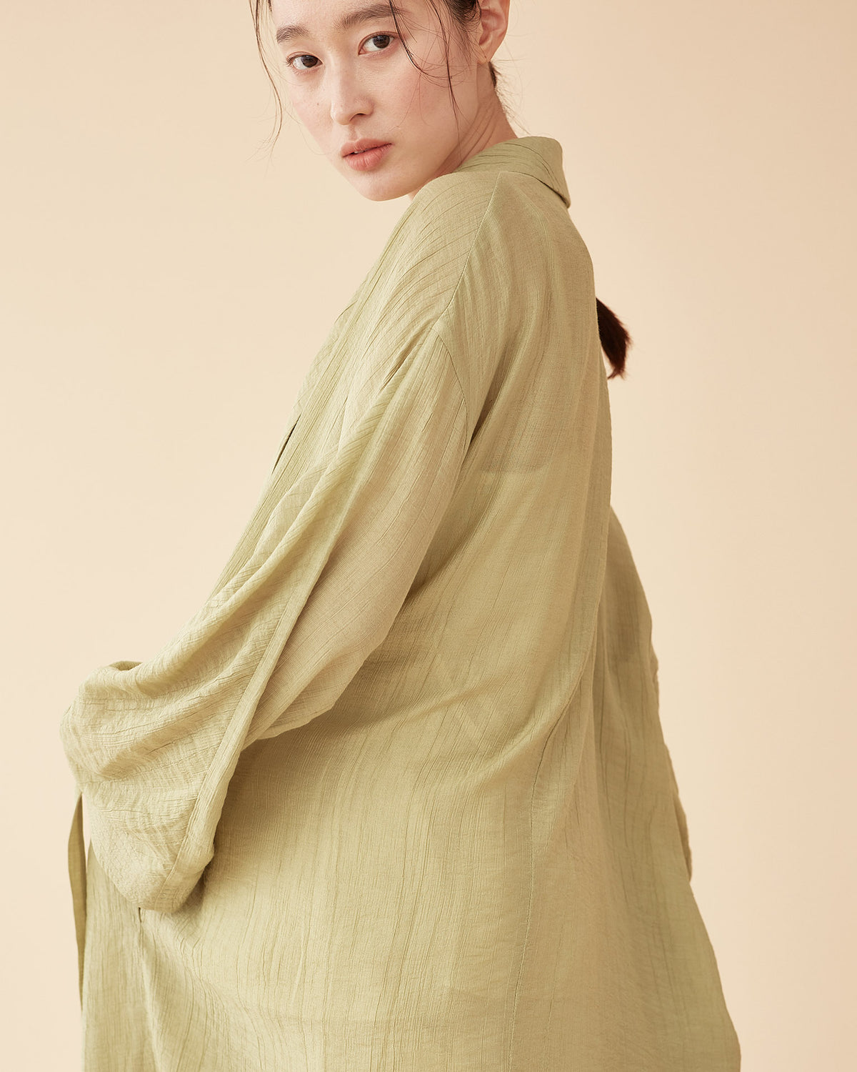 George Shawl Collar Robe / Green Tea