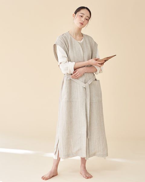 Black Walnut Robe / Premium Linen