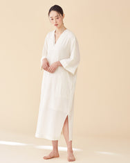 Kimono Line Sleepwear Dress / Off White