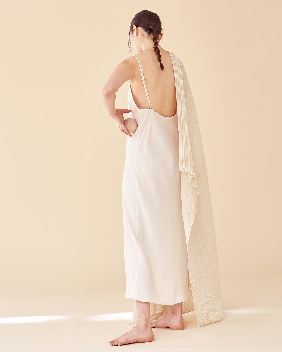 Caroline Long Slip Dress / Nude Pink