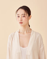 Pale Peach Multi-strap Robe / Long
