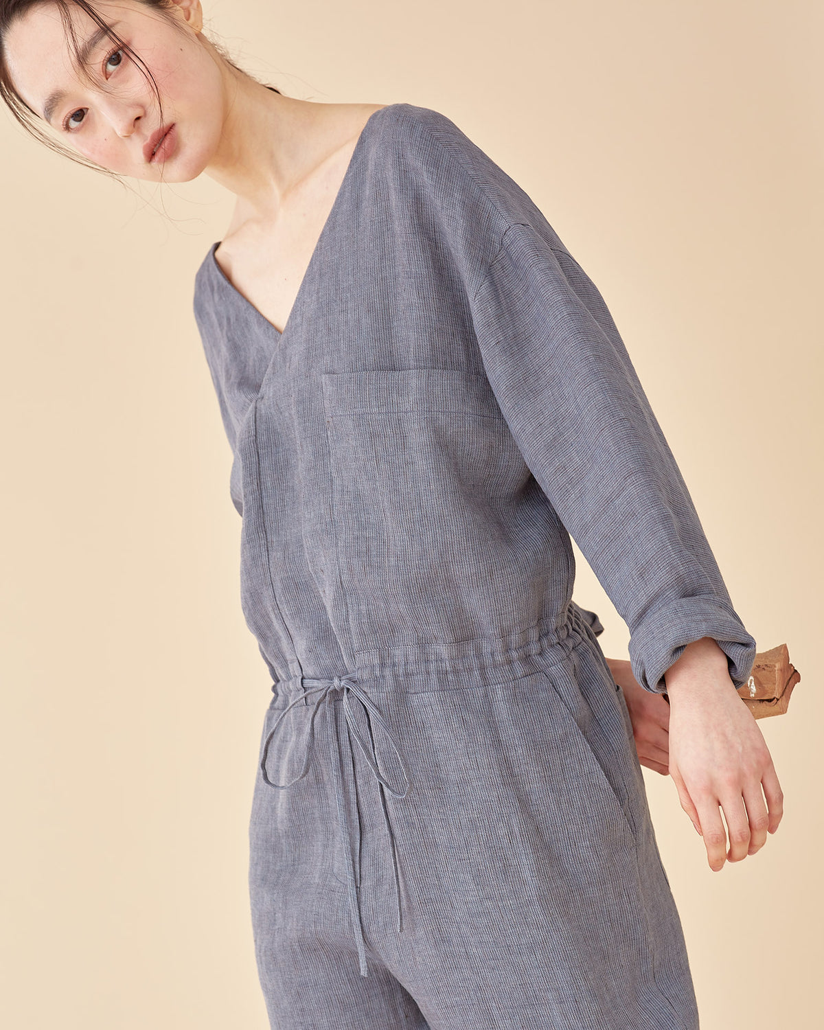 Wood Worker Jumpsuit / Premium linen