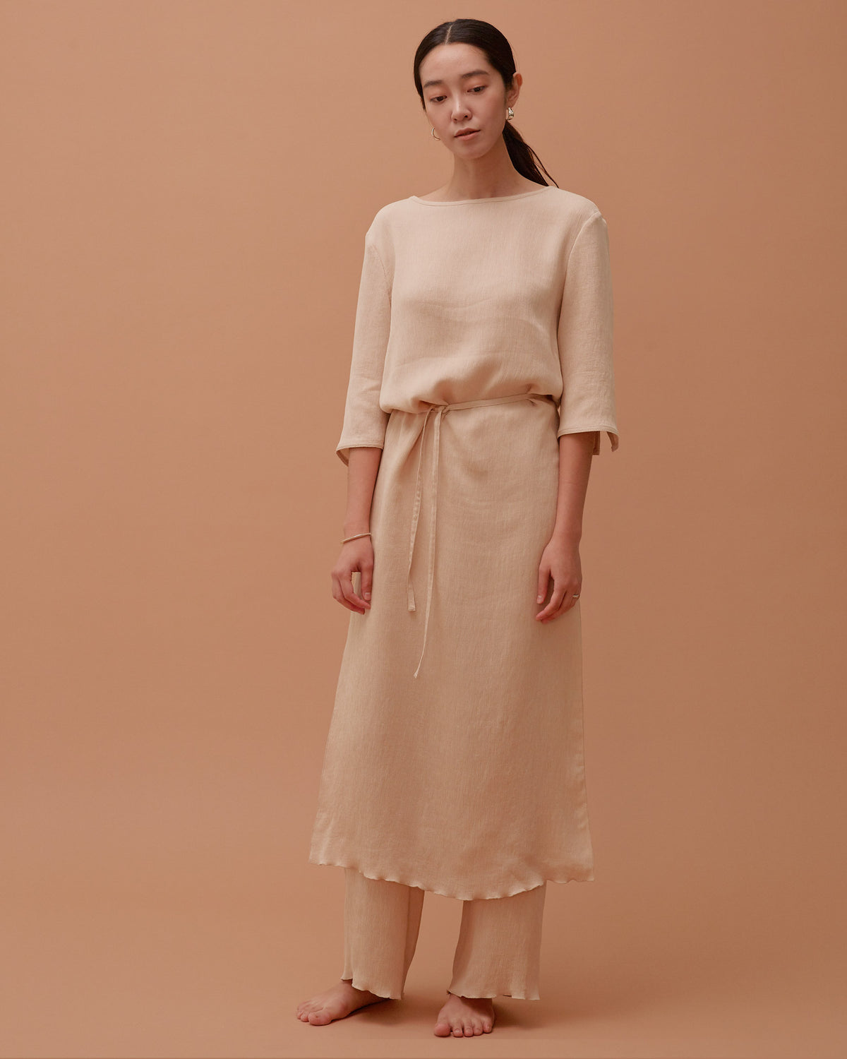 Accordion Dress / Sand Beige