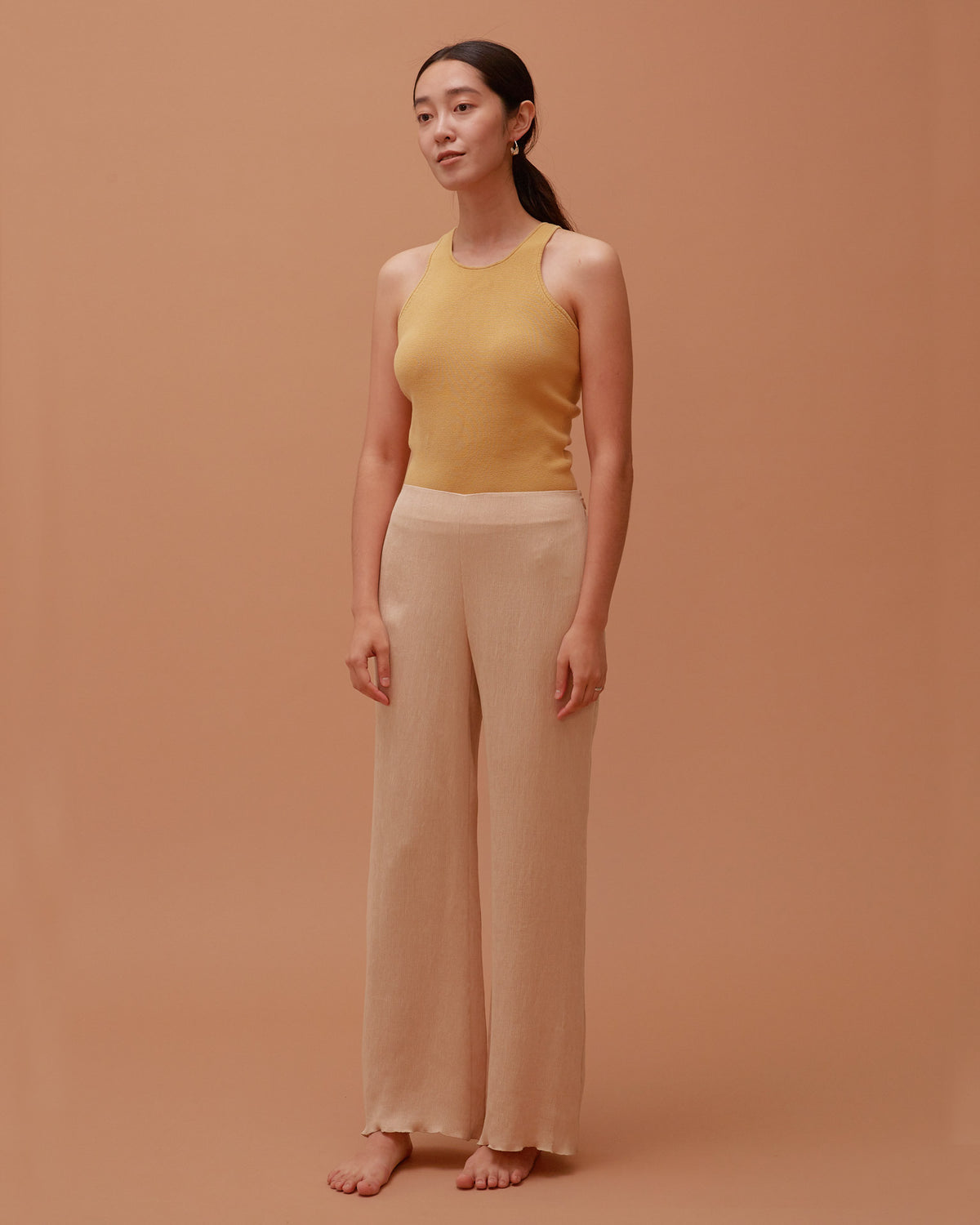 Accordion Pants / Sand Beige