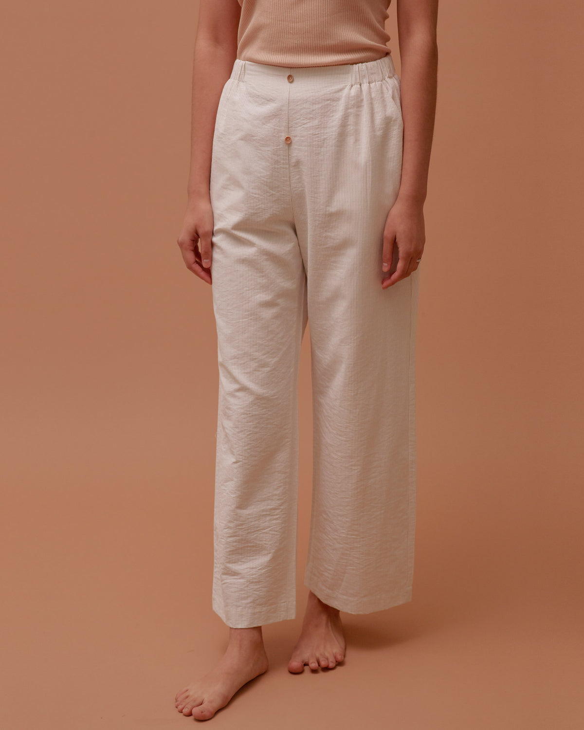 Buttoned Wide Pants