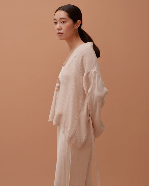 Pale Peach Multi-strap Robe / Short