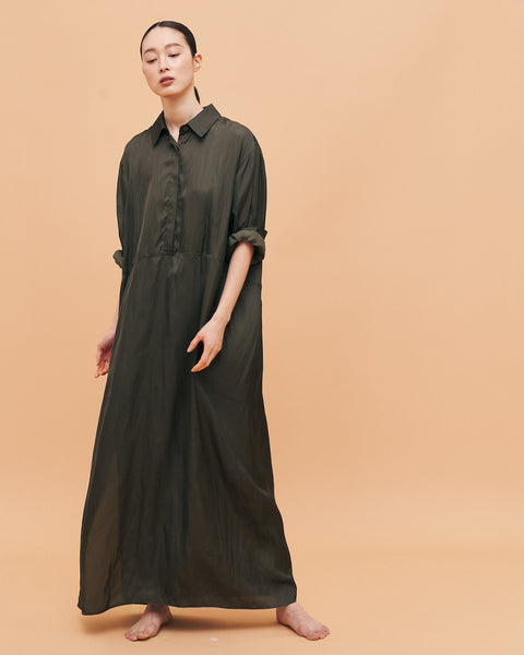 Kelly Classic shirt dress / Olive Brown