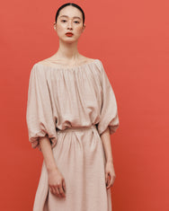 Emma balloon dress / Sand beige