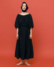 Emma balloon dress / Jet Balck