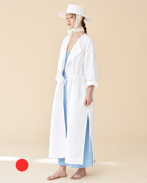 [REDTAG] Off-White Reversible Robe