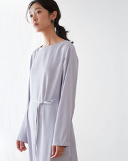 Satin All day Dress / Silver Grey