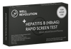 Hepatitis B rapid screen at home test kit from Well Revolution