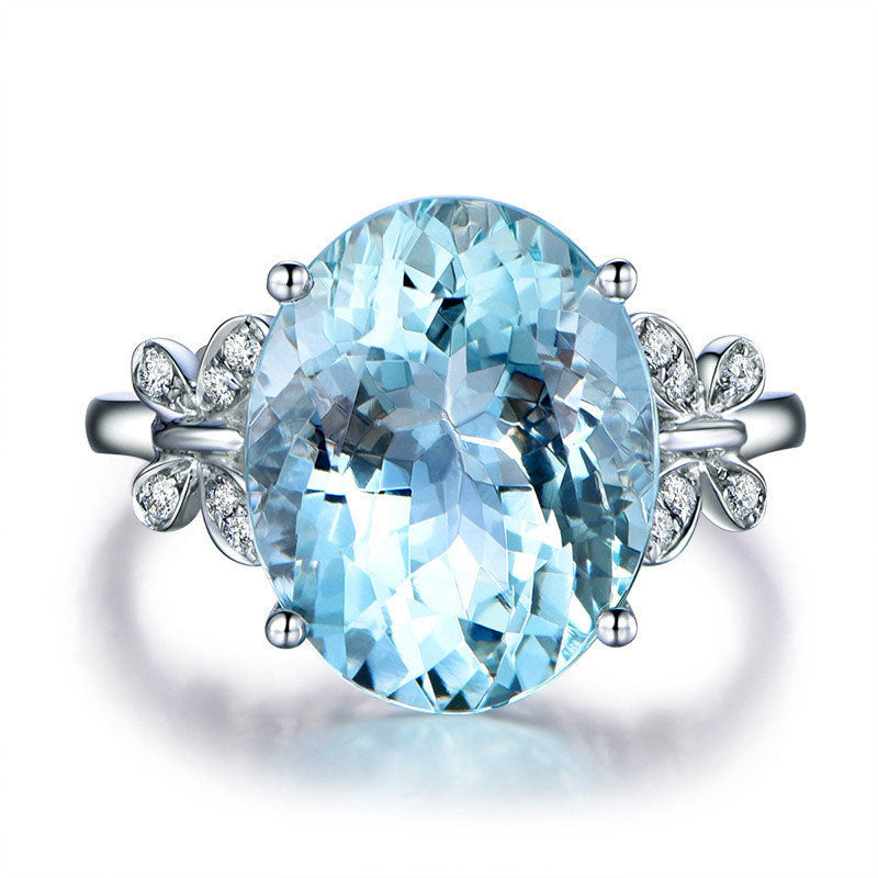 Sky Blue Butterfly Rings(March Birthstone) – OLIO