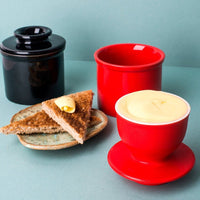 TM Essentials Ceramic Butter Crock for Soft, Spreadable Butter Year Round