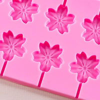 Silicone Flower Lollipop Molds and sticks