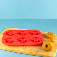 TM Essentials 6-well Silicone Donut Mold for Oven Baking Donuts