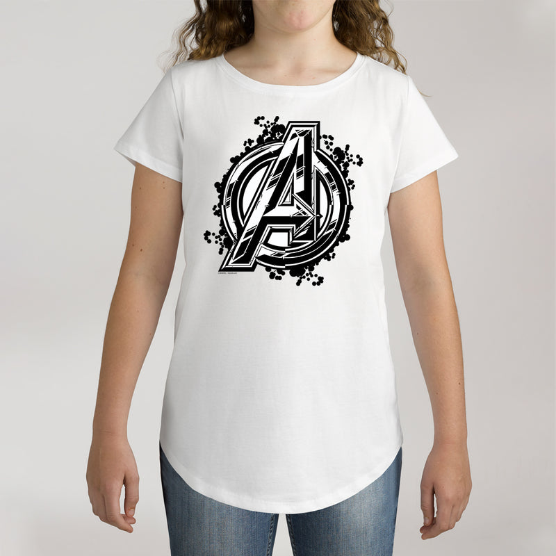 Twidla Girl's Marvel Avengers Infinity War Logo Cotton Tee