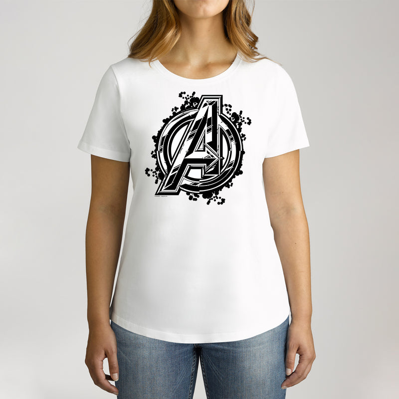Twidla Women's Marvel Avengers Infinity War Logo Cotton Tee