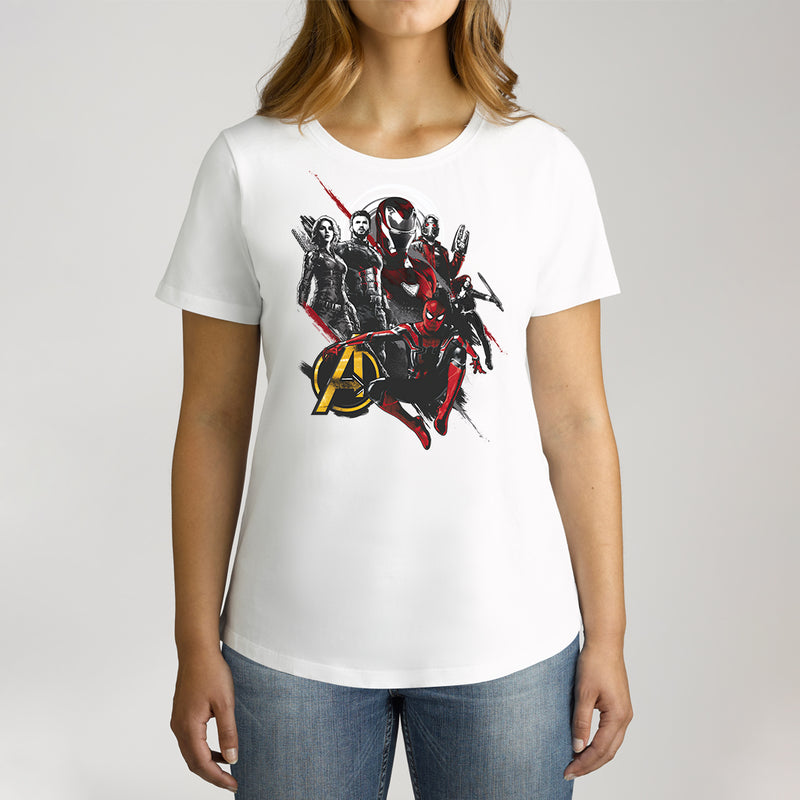 Twidla Women's Marvel Avengers Infinity War Heroes Cotton Tee