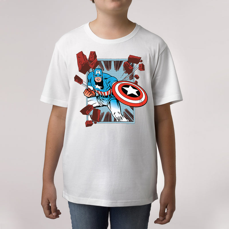 marvel captain america custom print t shirt