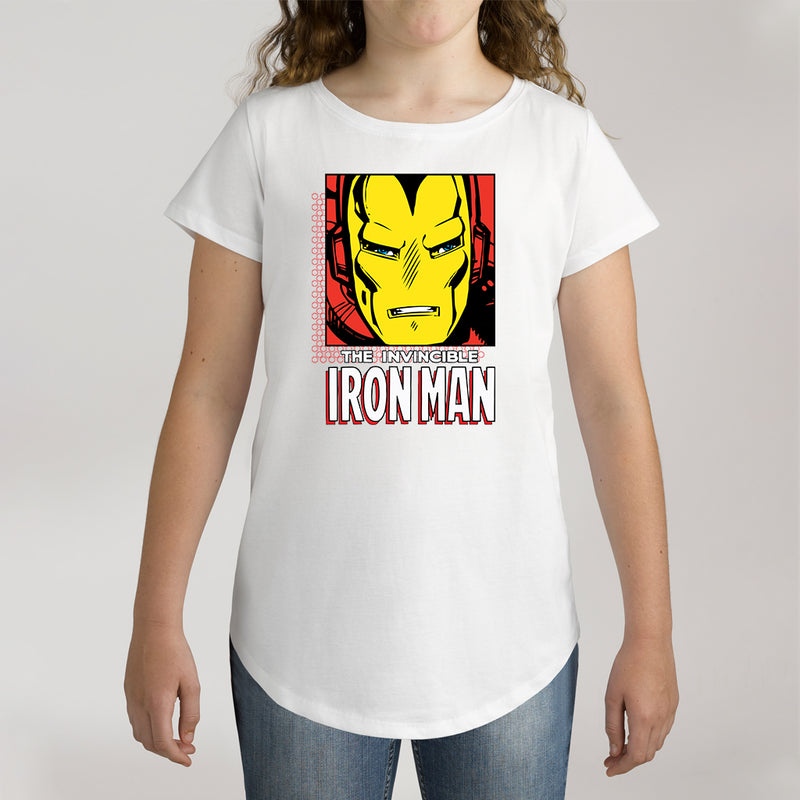 Twidla Girl's Marvel The Invincible Iron Man Cotton Tee