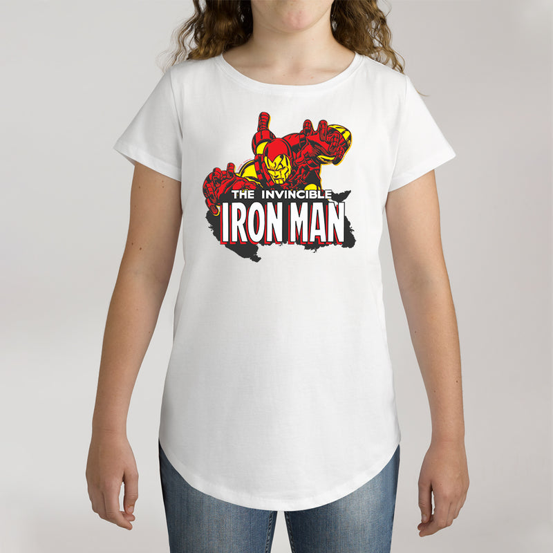 Twidla Girl's Marvel The Invincible Iron Man Action Cotton Tee