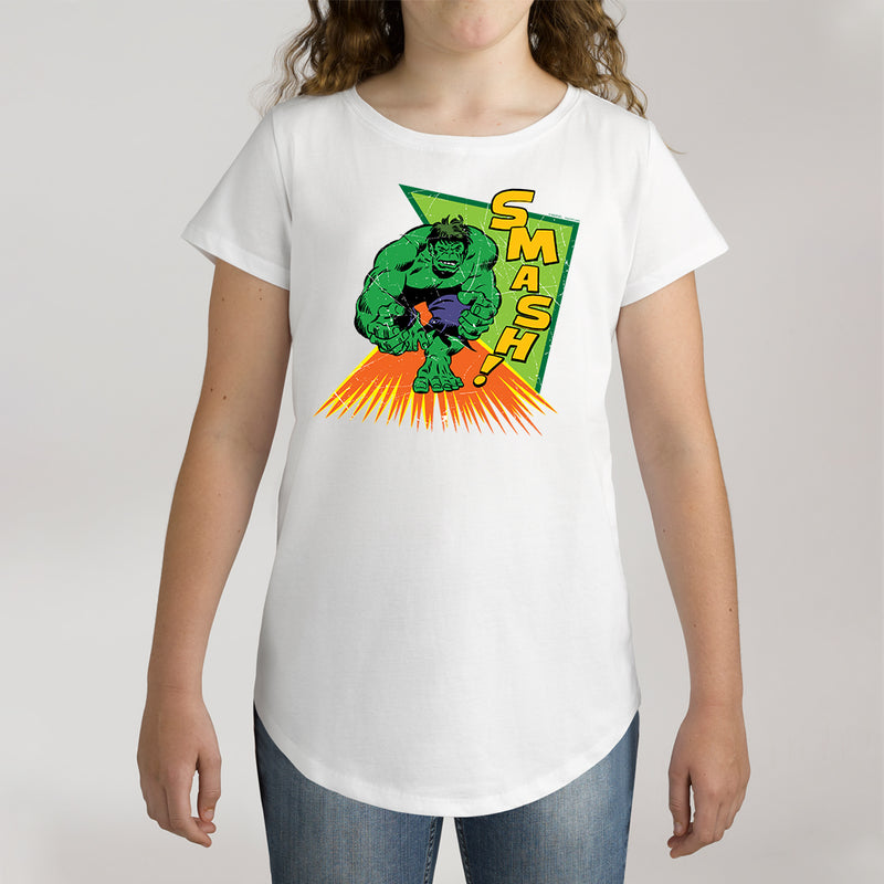 Twidla Girl's Marvel The Incredible Hulk Smash Cotton Tee