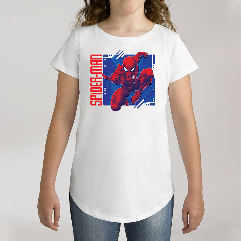 Twidla Girl's Marvel Spider-Man Cotton Tee