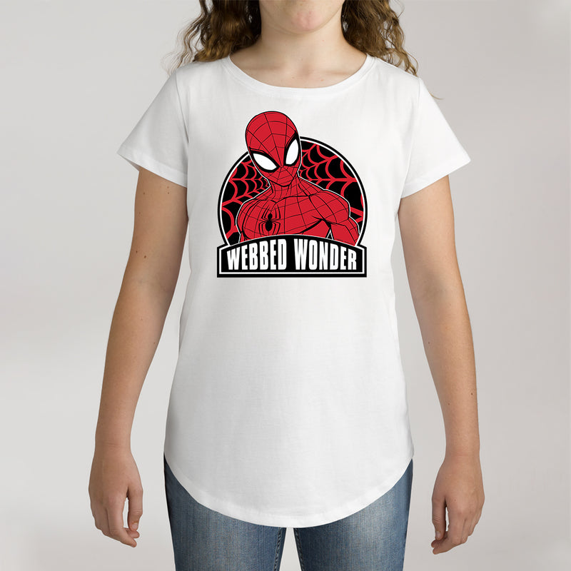 Twidla Girl's Marvel Spider-Man Webbed Wonder Cotton Tee