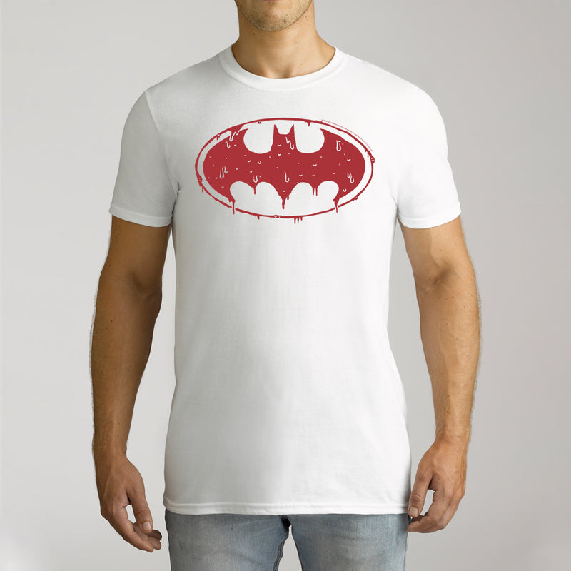 Twidla Men's DC Batman Logo Cotton Tee