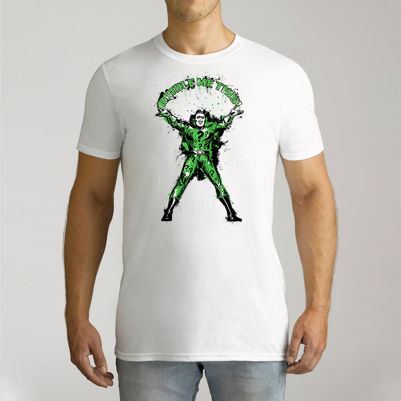 Twidla Men's DC Batman The Riddler Riddle Me This Cotton Tee