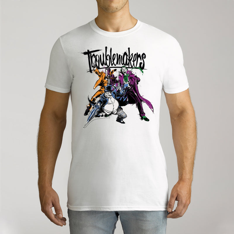 Twidla Men's DC Batman Troublemakers Cotton Tee