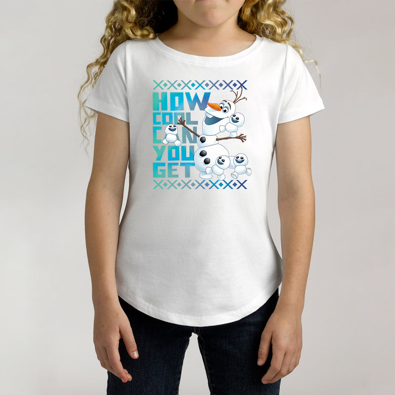 Twidla Girl's Disney Frozen Olaf How Cool Can You Get Cotton Tee