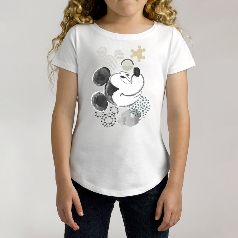 Twidla Girl's Disney Mickey Mouse Cotton Tee