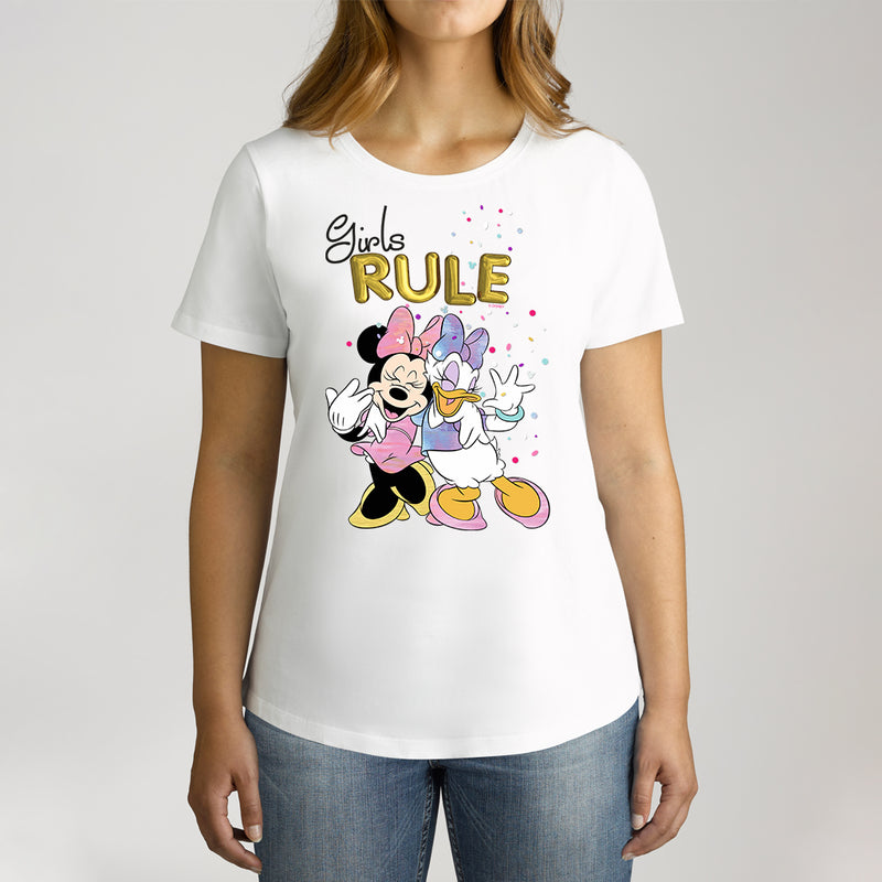 Twidla Women's Disney Minnie Mouse Girls Rule Cotton Tee