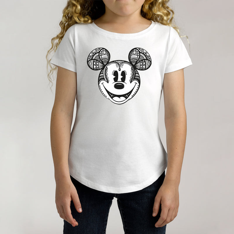 Twidla Girl's Disney Mickey Mouse Geo Cotton Tee