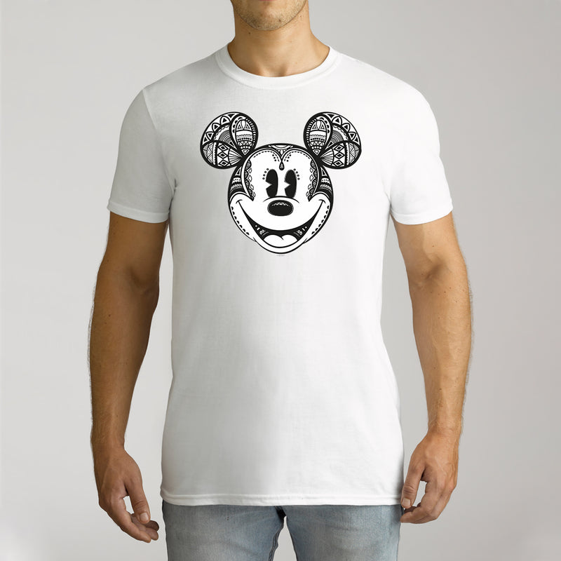 Twidla Men's Disney Mickey Geo Cotton Tee