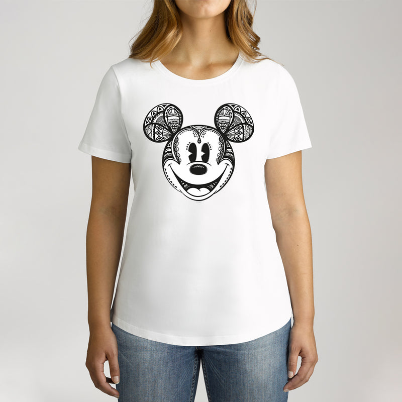 Twidla Women's Disney Mickey Mouse Geo Cotton Tee