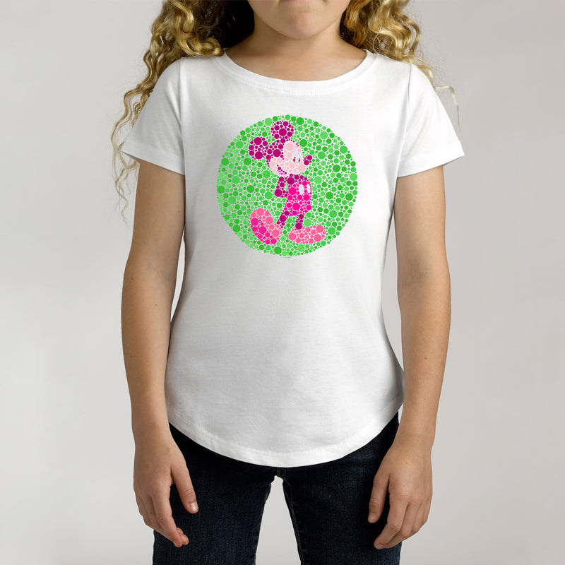 Twidla Girl's Disney Mickey Mouse Spots Cotton Tee
