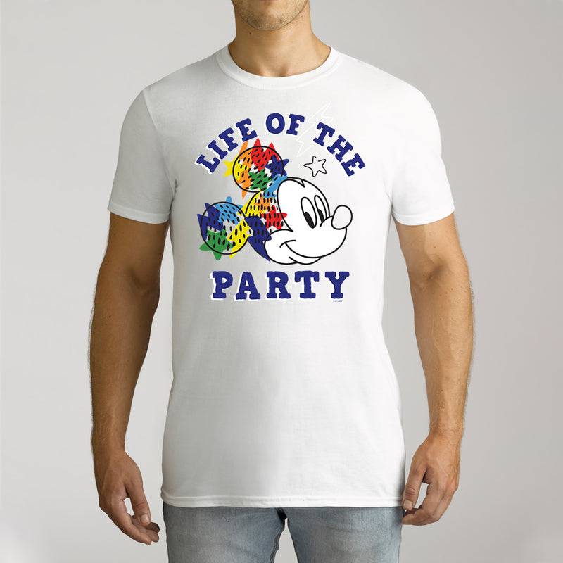 Twidla Men's Disney Mickey Mouse Life of the Party Cotton Tee