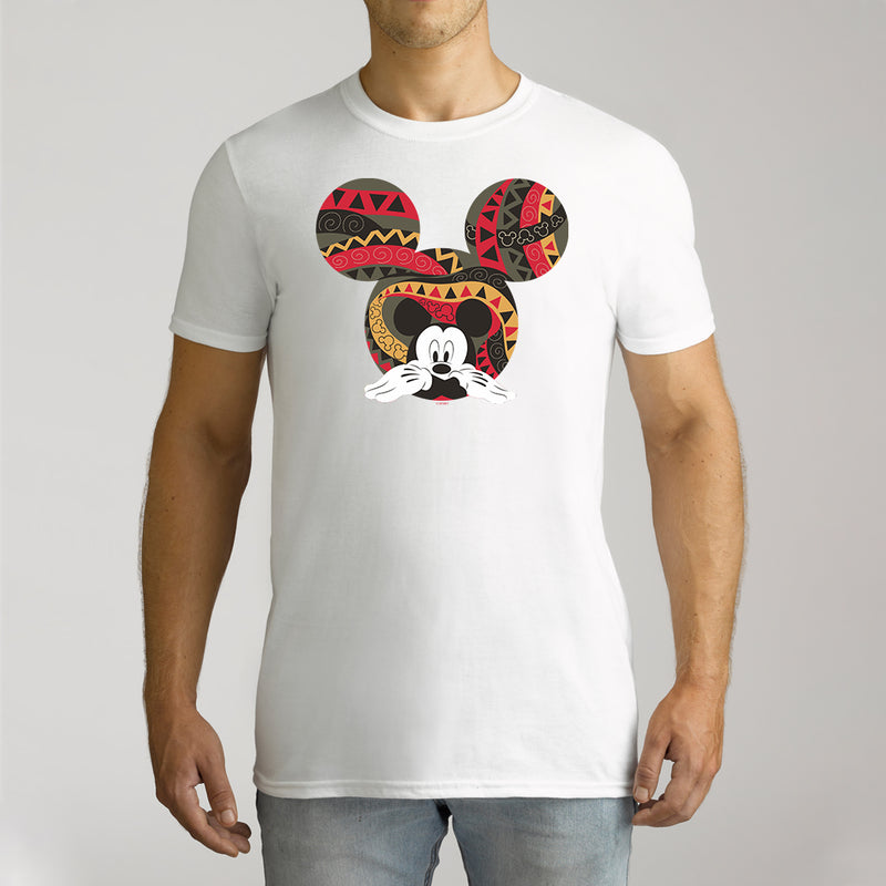 Twidla Men's Disney Mickey Mouse Aztec Cotton Tee