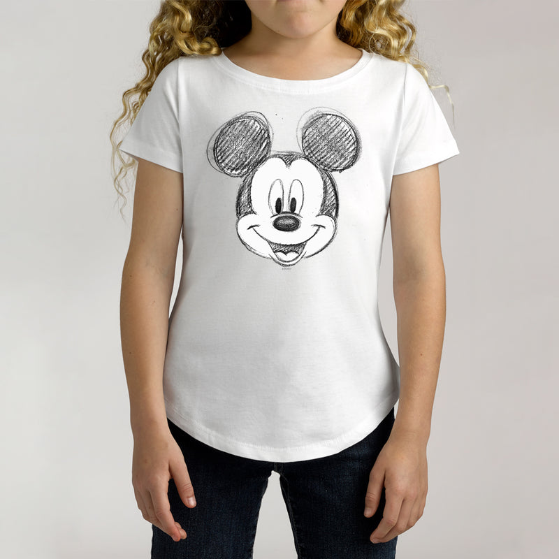 Twidla Girl's Disney Mickey Mouse Sketch Cotton Tee