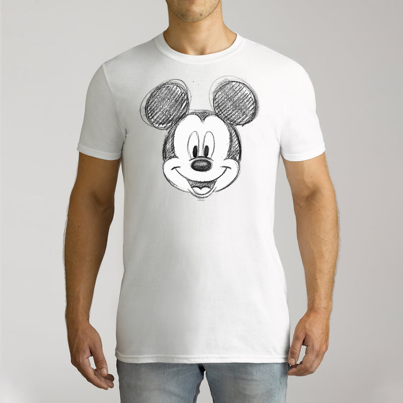 Twidla Men's Disney Mickey Mouse Sketch Cotton Tee